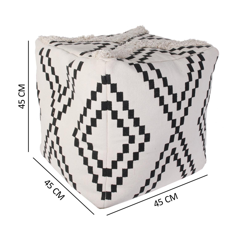 Pufa Berbere biała/ czarna - zdjęcie nr 4
