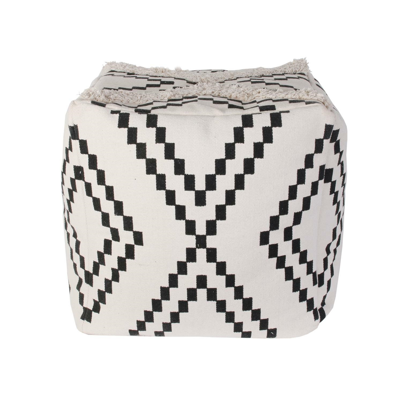 Pufa Berbere biała/ czarna - zdjęcie nr 0