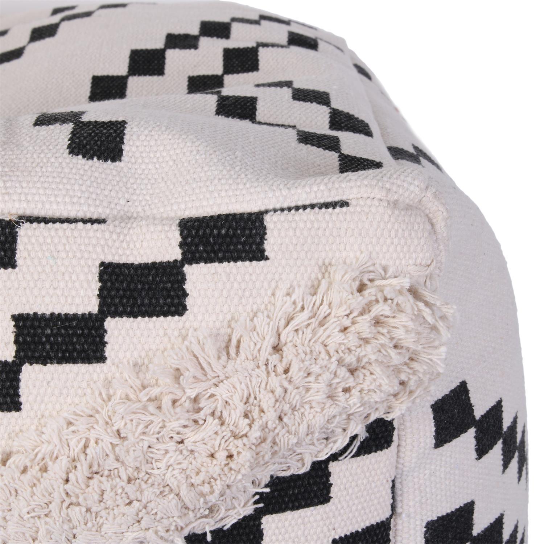 Pufa Berbere biała/ czarna - zdjęcie nr 1
