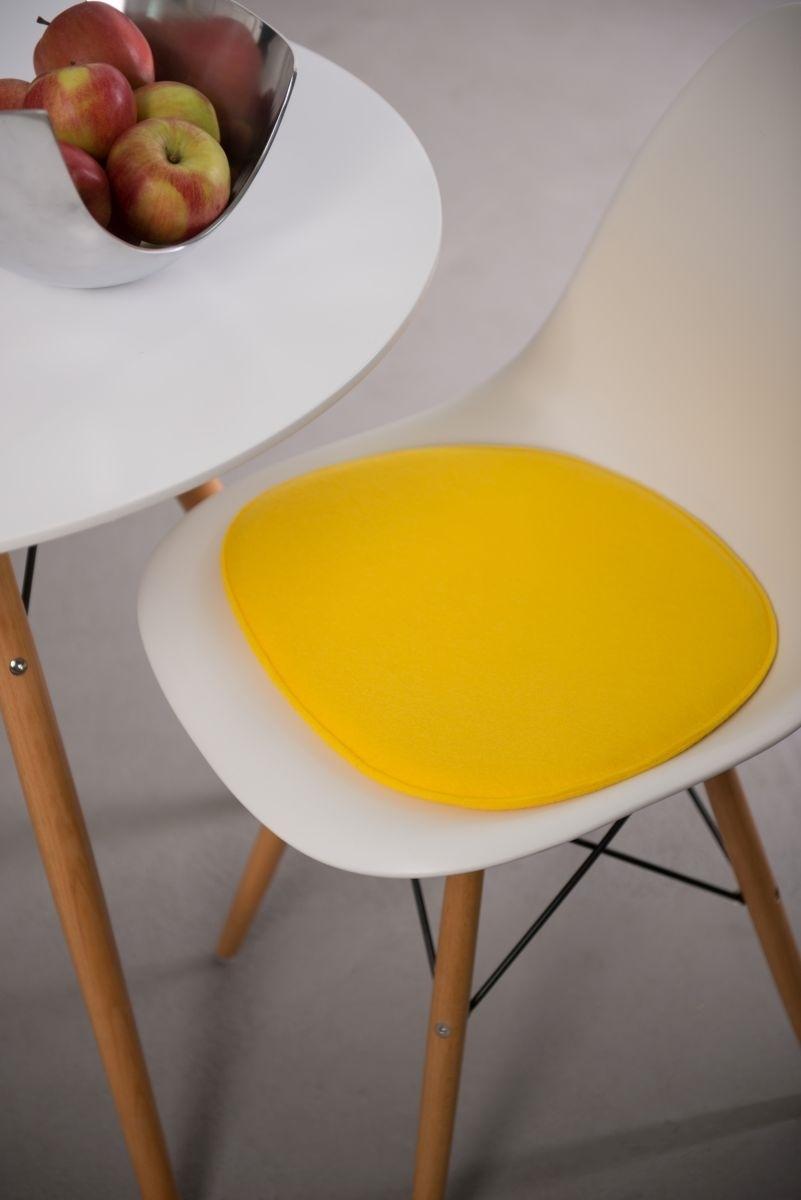 Poduszka na krzesło Side Chair żółta - zdjęcie nr 1