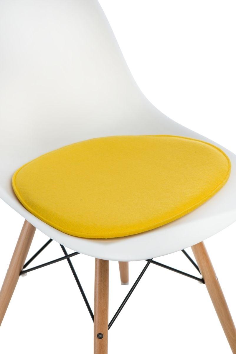 Poduszka na krzesło Side Chair żółta - zdjęcie nr 0