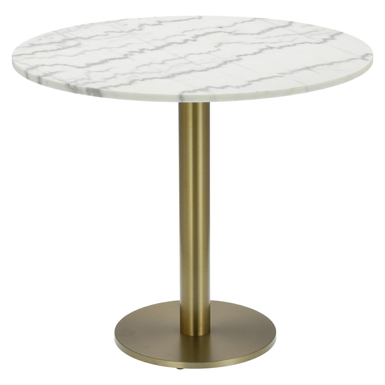 Stół okrągły Corby II 110cm marmur/złoty - zdjęcie nr 0