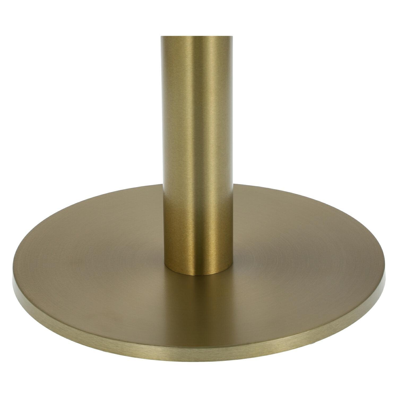 Stół okrągły Corby II 110cm marmur/złoty - zdjęcie nr 1