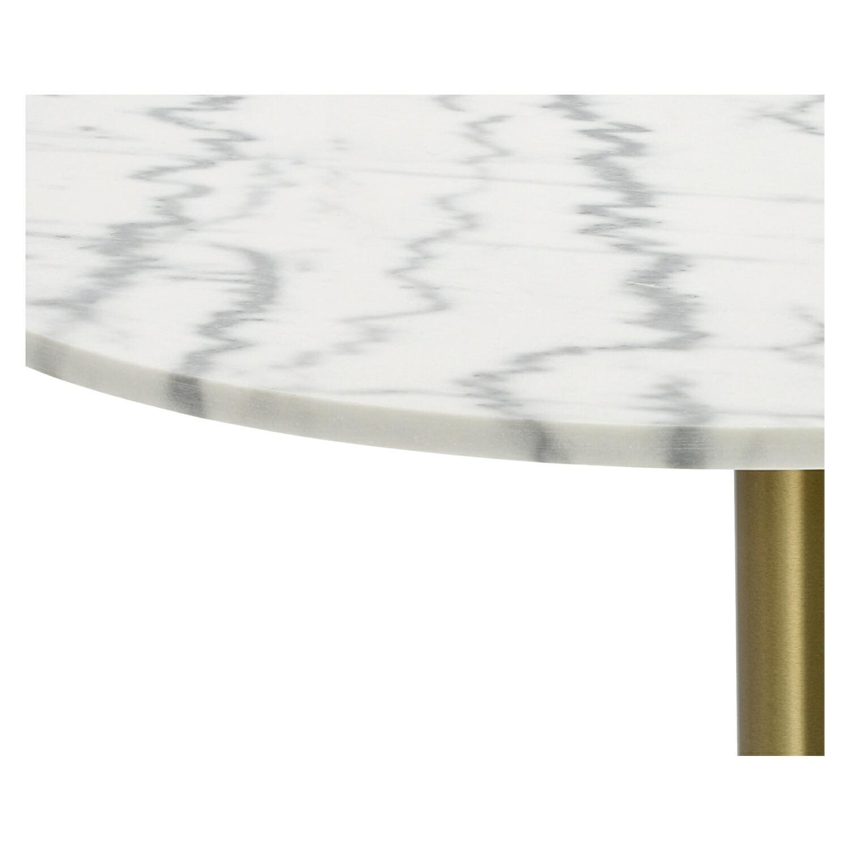 Stół okrągły Corby II 110cm marmur/złoty - zdjęcie nr 2