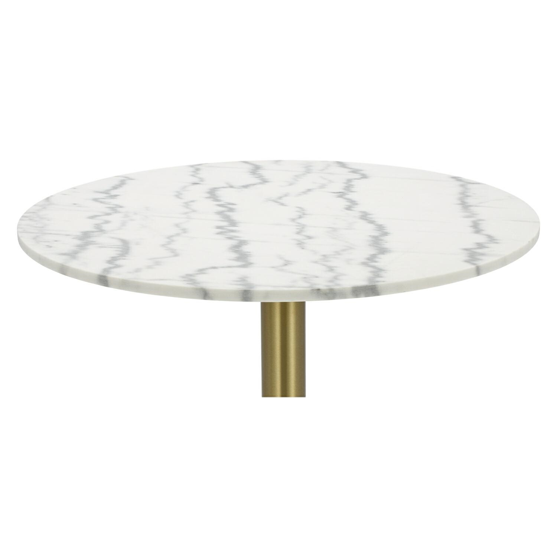 Stół okrągły Corby II 110cm marmur/złoty - zdjęcie nr 3