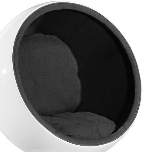 Fotel Kula biały/czarny - zdjęcie nr 0