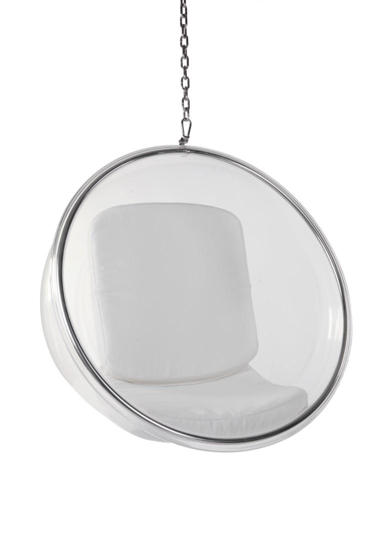 Fotel Bańka transparent/biała poduszka - zdjęcie nr 0