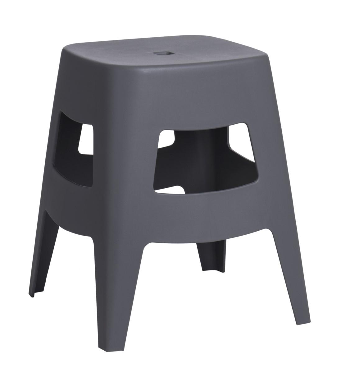 Stolička D2 Tower šedá